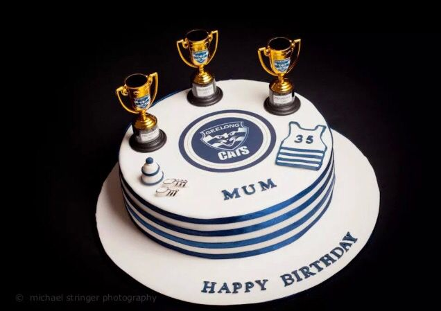Geelong Cats AFL Birthday Cake