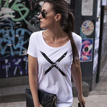 Urban Gilt Lookbook | Style Armour | Ridley White Shattered Cross T-shirt