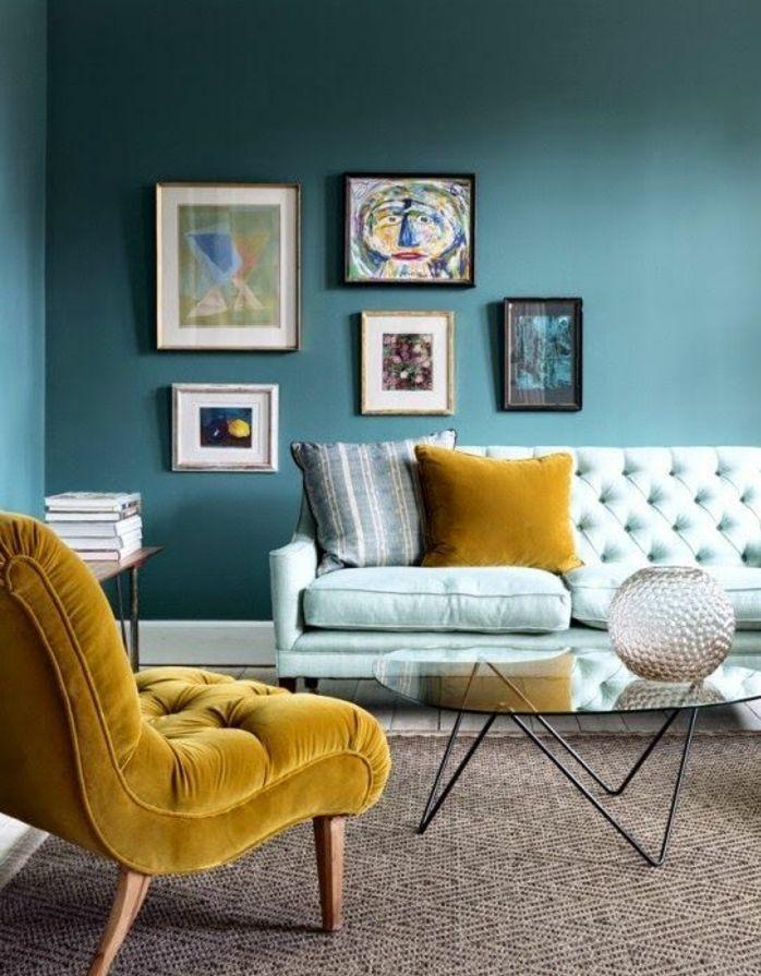 Les 25 meilleures id es de la cat gorie peinture bleu for Bleu canard clair