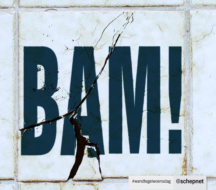 Speciaal voor Dibi wijzigen we onze #wandtegelwoensdag voor 1 keer in Bam!tegelwoensdag. :-)