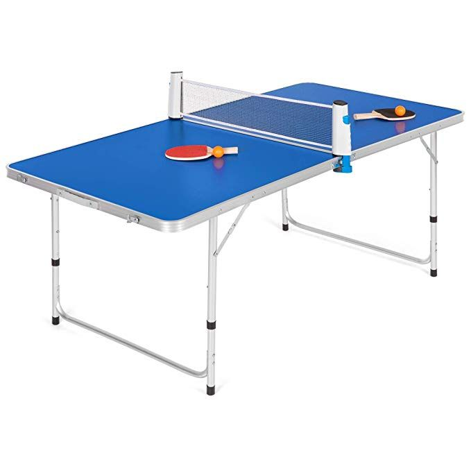 Amazon Com Best Choice Products 58in Indoor Outdoor Portable Folding Ping Pong Table Tennis Gam Ping Pong Table Tennis Folding Ping Pong Table Ping Pong Table Indoor outdoor ping pong table