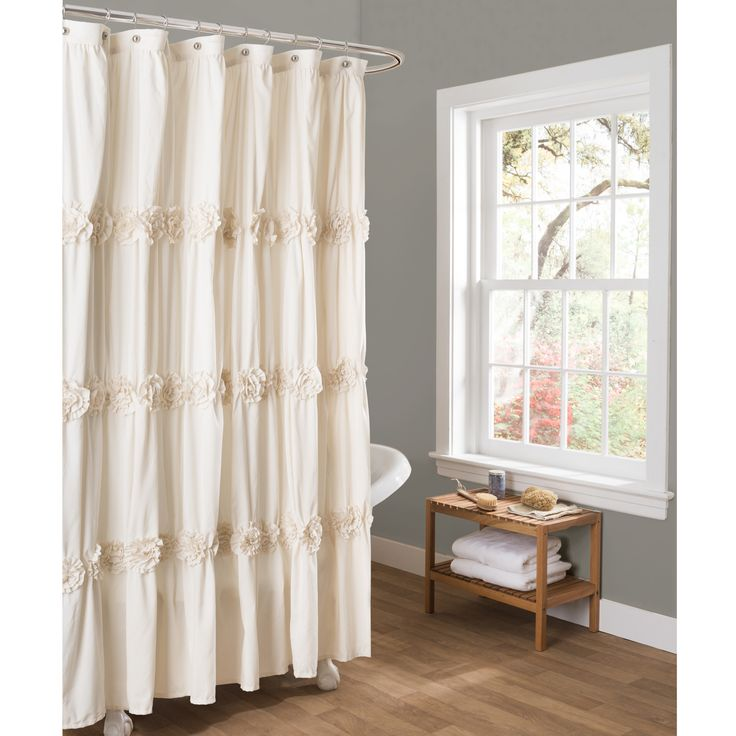 The Lush Decor Darla Shower Curtain Has Lovely Crafted Flower Details That Will Add Elegance And Charm To Your Bathroom This Comes In White
