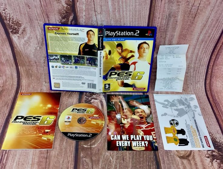 Ps2 Game Pes 6 Pro Evolution Soccer ⚽️ net play 🥅 Complete PlayStation 2 pal 3+