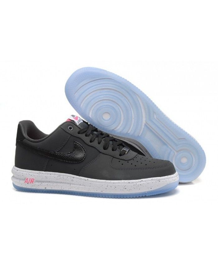 18f0a2d018cb Men Nike Air Force One Black Trainer