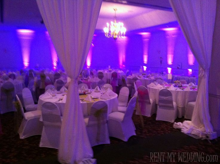 diy wedding reception lighting. Love These Rentmywedding Purple Uplights At This Wedding Reception In PA Diy Lighting E