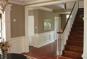 Installation of interior wood trim molding, crown molding from Crown and Trim by Design