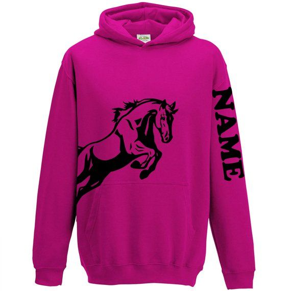 Horse riding personalised hoodie kids Adults top equestrian Hoody add your name