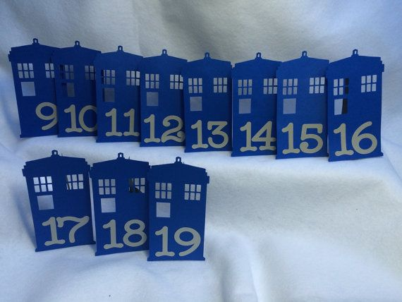 Doctor Who Tardis Table Number Wedding by ShaesBridal on Etsy