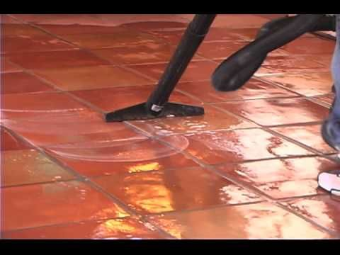 Saltillo Tile Care | Saltillo Tile Restoration by Arizona Tile and Grout Care - YouTube