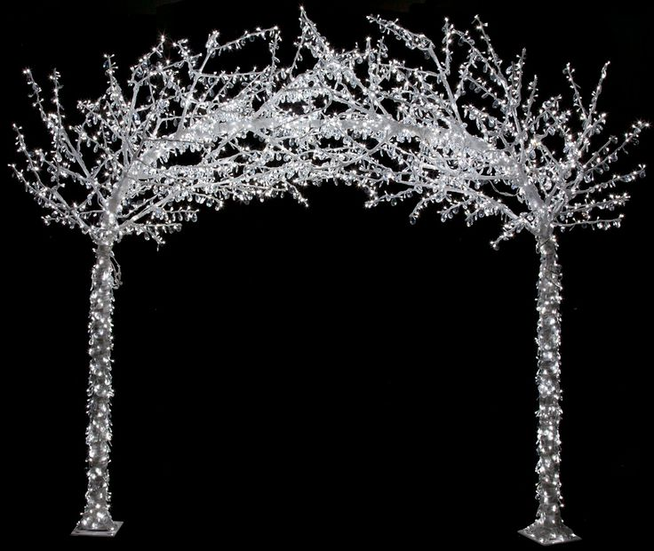 Crystal led lighted arch by autograph foliages