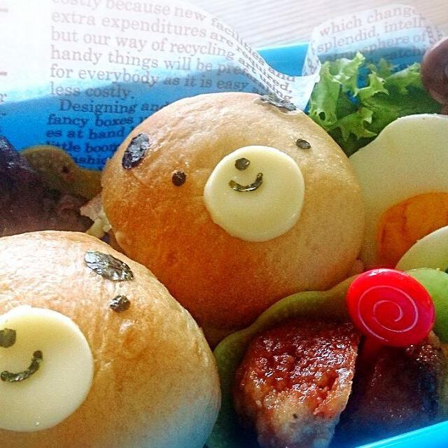 昨日の微妙なベーグルはサンドイッチにしてお弁当に入れました。食べきれないと、この後に卵をリンゴに変更させられ、野菜も撤去(笑) でもハンバーグにおからいっぱい入ってるから栄養は大丈夫(*^^*) - 22件のもぐもぐ - 息子のお弁当 by はる