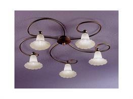 Lampadari in ferro battuto collezione Algiuliana