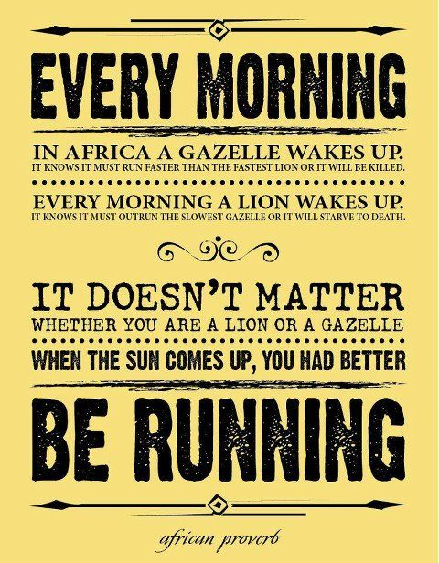 Monday Morning Motivation: Better Be Running