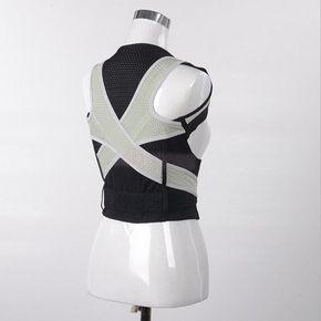 Breathable Posture Corrector with Lumbar Shoulder Clavicle Support - The Natural Posture