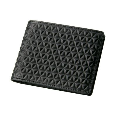 The #Tetra slimfold wallet is an ultra cool design featuring a geometrically textured exterior in black top grain leather.