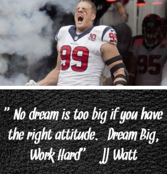 JJ Watt #Texans And that's what we are doing!