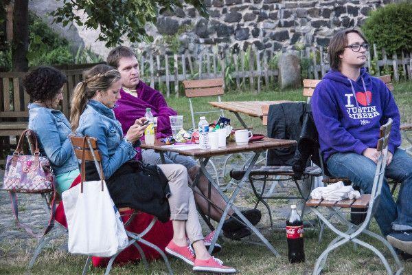 Příjemná atmosféra, prostředí středověkého hradu a letní kino. To vše nabízí Vodní hrad Lipý během letních prázdnin. Foto: Štěpán Kňákal (08.07.2015).