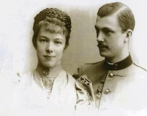 Marie Valerie with her husband, Franz Salvator.