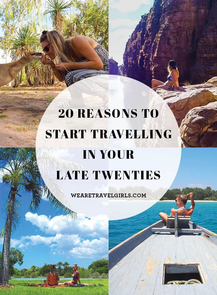 """20 REASONS TO START TRAVELLING IN YOUR LATE TWENTIES It's so empowering to see more and more women take the plunge and start travelling this amazing world we live on! However, if you are like me in your late twenties, (or how I was), you might find yourself daydreaming of travelling every single day, but constantly worrying that your precious time is """"running out."""" How on earth can I travel now when I should be, (cue ridiculous expectations), settling down by now, having a child by now…"""