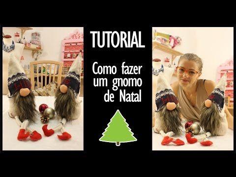 Tutorial - DIY Make yourself a Christmas gnome | Faça você mesmo como fazer um gnomo de Natal - YouTube