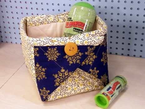 cesta origami tecido