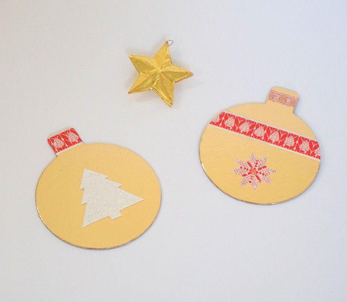 DIY - Noël - décorations - boules de Noël - Dessous de verre - Sapin - Etoile - doré - Christmas bowl - Christmas decoration - Christmas tree - Star - Gold