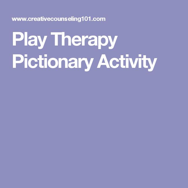 Play Therapy Pictionary Activity