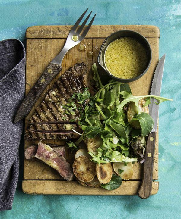 Steaks with Crispy Potatoes