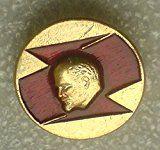 #10: # 3 V I Lenin USSR Soviet Union Russian Communist Bolshevik Historical Political Pin Badge Red flag Sickle & Hammer