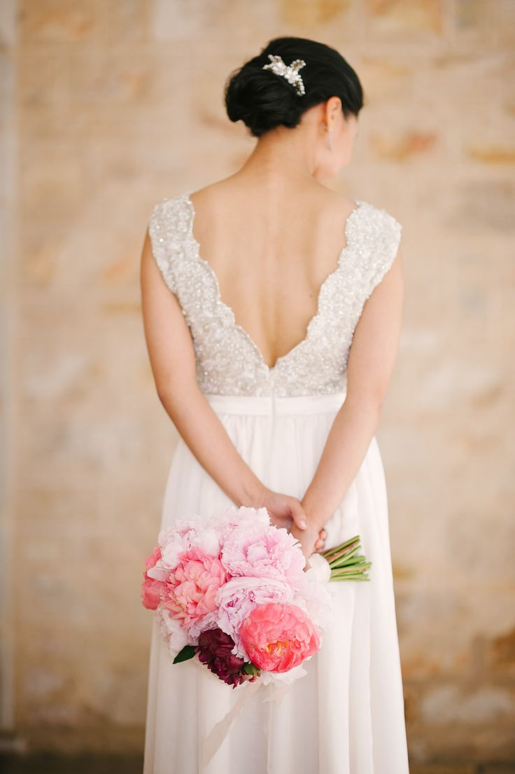 Don't miss this whimsical wedding on SMP -- especially if you're a PEONY lover!! Click here: http://www.StyleMePretty.com/australia-weddings/2014/02/18/whimisical-adelaide-hills-wedding/ Photography: Luke Simon