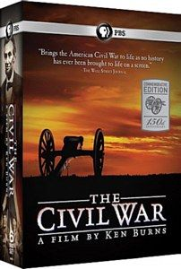 "Settle down with a bowl of popcorn to watch ""The Civil War, Commemorative Edition"" by Ken Burns on DVD."