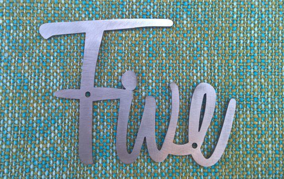 Mid CenturyMCMVintage Script House Numbers by RetroAZ on Etsy