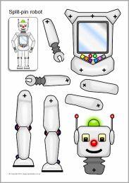 Split-pin robot characters (SB8960) - SparkleBox