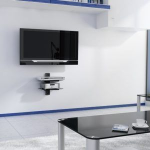 tv wall bracket with sky box shelf tv bracket ideas wall mount rh pinterest com