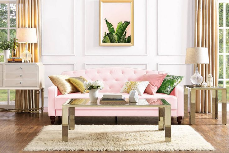Our Pink Tufted Futon is finally here..You can purchase on the provided link…