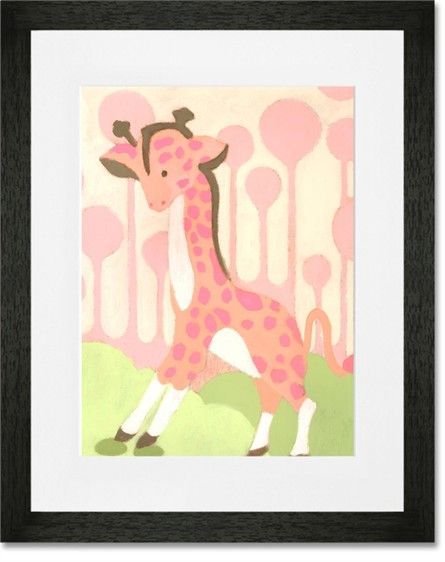 Rosenberry Rooms has everything imaginable for your child's room! Share the news and get $20 Off  your purchase! (*Minimum purchase required.) Gigi Giraffe - Pink Framed Art Print #rosenberryrooms