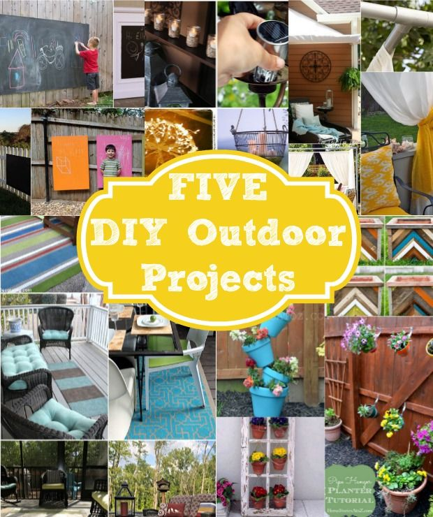 Five Do It Yourself Outdoor Project Ideas