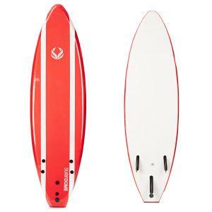 Surfdome Red Stripe Softboard - 6ft 0   Livraison gratuite