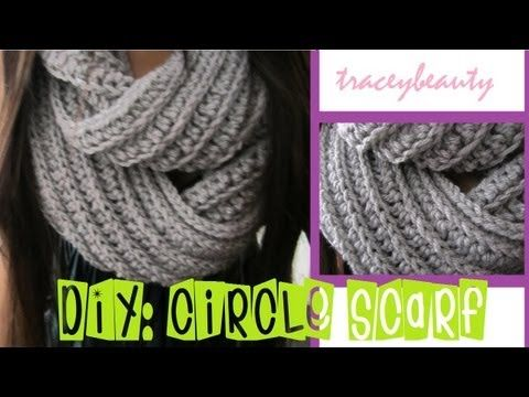 ▶ DIY: Knit-Like Circle Scarf(Crochet Tutorial) - YouTube