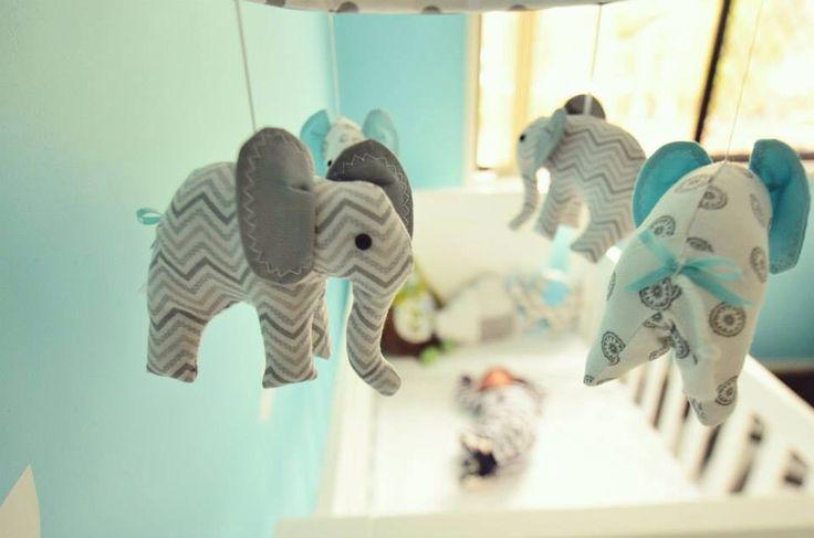 Luca's Nursery  Handmade Elephant Mobile purchased from:  https://www.etsy.com/shop/MemeFleury  Spinning Mobile Music Box purchased from:  https://www.etsy.com/shop/Odyssey359