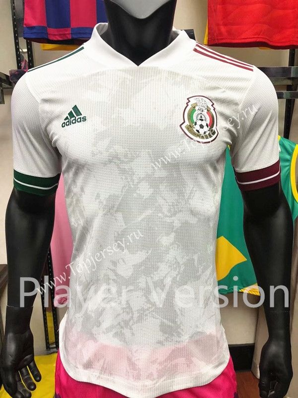 2020 2021 Mexico Away White Thailand Soccer Jersey In 2020 Soccer Jersey Soccer Jersey