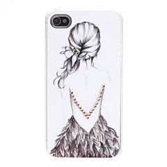 Lady Pattern Hard Case for iPhone 4/4S