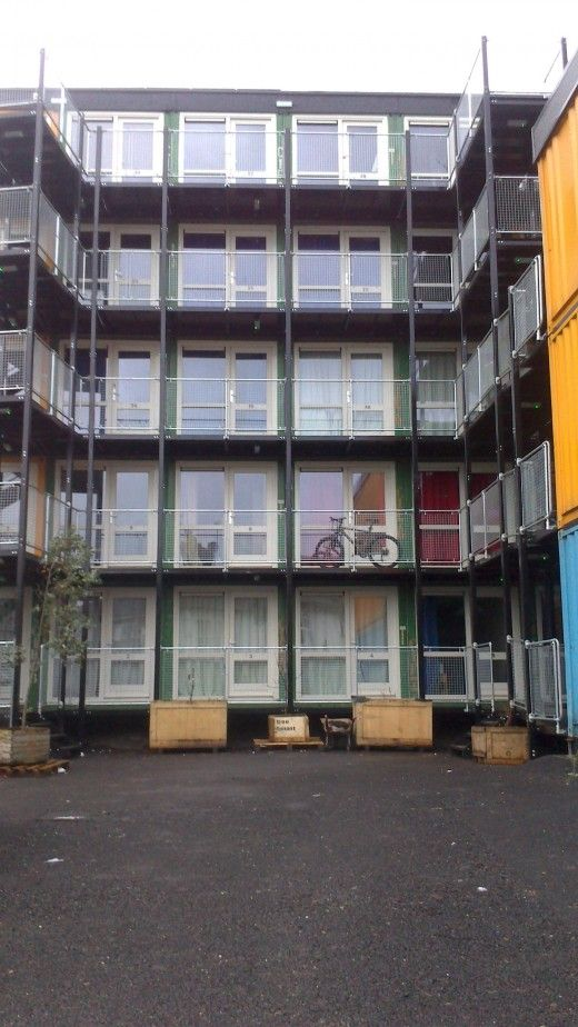 Old Shipping Containers Made Into Homes for Brighton Homeless