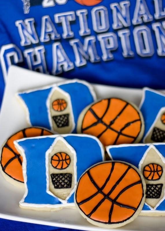 Duke Basketball Cookies
