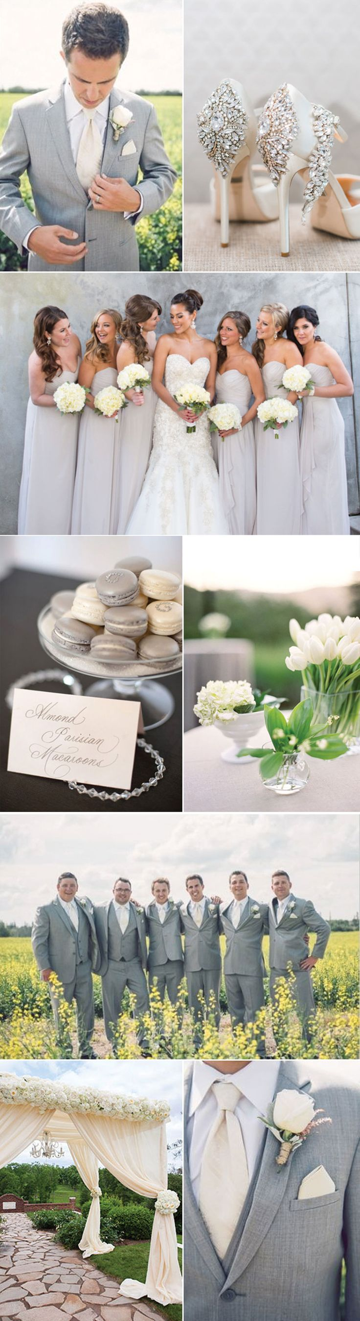 Linen and Silver Wedding Ideas and Inspiration