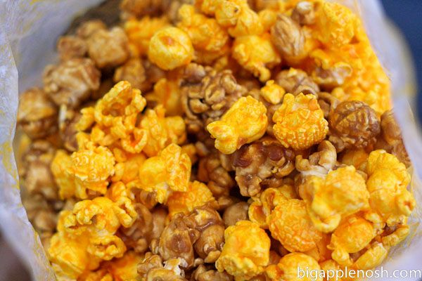 Garrett Popcorn.  Make sure to get the Chicago Mix in a signature blue tin: carmel crisp and cheese corn.  Yum!