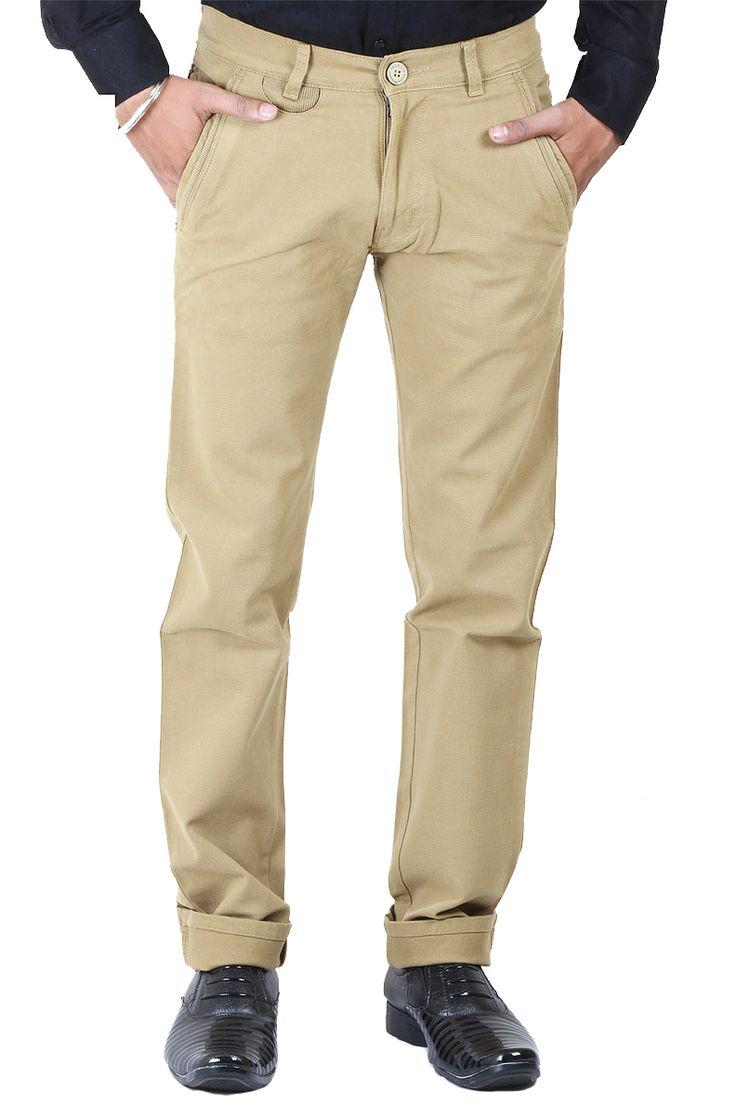 http://tinyurl.com/j7ohzbd Buy Online LA-MARINO Mustard Lycra (Stretchable) Jeans For Men at GetAbhi.com