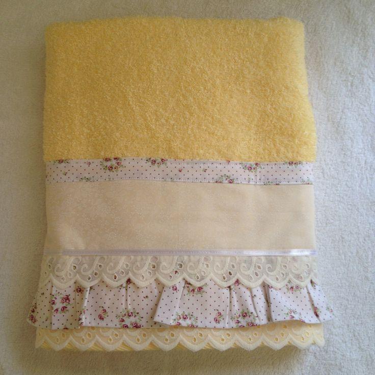 Tutorial - Passo à passo, Toalha de banho com babado. http://adrianavivartedesign.blogspot.com.br/