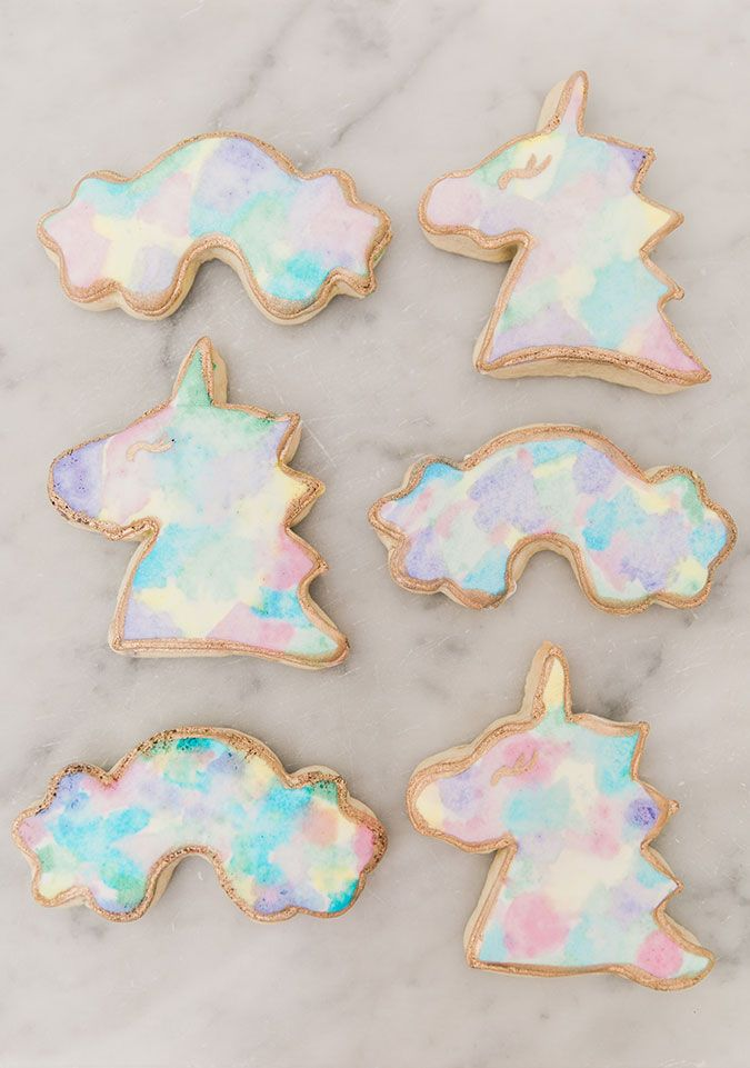 Unicorn and rainbow sugar cookies recipe