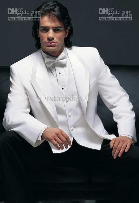 Free shipping, $86.58/Piece:buy wholesale  White Jacket Black Trousers Groom Tuxedos Man's Suit((Jacket+Pants+Vest+Tie+Kerchief)) DH:294Reference Images,Wool Blend,Regular on star-sky's Store from DHgate.com, get worldwide delivery and buyer protection service.